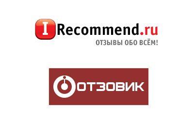 логотипы сайтов отзывов отзовик и irrecomend