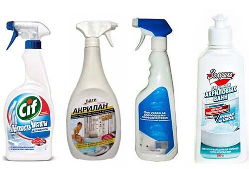 жидкие моющие средства для ванны